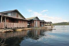 Плавая село Стоковая Фотография