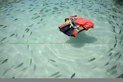 плавая спасатель Стоковое Фото