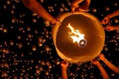 Плавая фонарик Стоковое Изображение