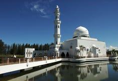 плавая terengganu мечети Малайзии Стоковое Фото
