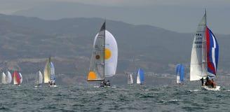 плавая yachting 10 Стоковые Фотографии RF