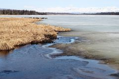 плавить озера Стоковая Фотография