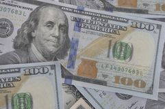 Плавно кройте способные и repeatable 100 долларовых банкнот черепицей, США Currenc Стоковое Изображение RF