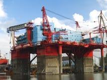 плавучая жилая платформа Стоковые Фотографии RF