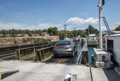 Плавучий мост в канале Коринфа Стоковая Фотография RF