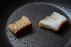 Плавя сало - выпечка и варить - смажьте бекон Стоковые Изображения