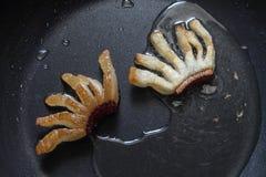 Плавя сало - выпечка и варить - смажьте бекон Стоковые Фото