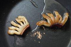 Плавя сало - выпечка и варить - смажьте бекон Стоковое Изображение RF