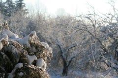 Плавя эскиз зимы снега Стоковые Изображения RF