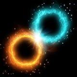 Плазма, огонь и лед 2 кругов Стоковая Фотография RF