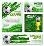 Плакаты знамени футбольной команды чашки футбола вектора Стоковое фото RF