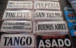 Плакаты индикатора в стойле традиционного San Pedro Telmo справедливого Стоковое Изображение RF