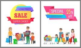 Плакаты низкой цены спечиальной скидки супер отборные бесплатная иллюстрация