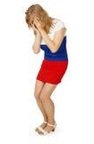 плакать девушки флага платья цвета плохой русский Стоковые Изображения