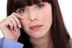Плакать женщины стоковая фотография