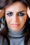 плакать к женщине Стоковое Фото
