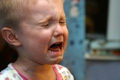 плакать мальчика Стоковое Изображение RF