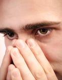 Плакать человека Стоковые Изображения RF