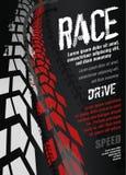 Плакат автошины мотоцикла Стоковые Изображения