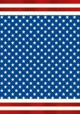 Плакат американского флага с звездами Стоковые Фото