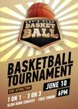 Плакат баскетбола реалистический Стоковые Изображения RF