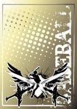 плакат бейсбола 2 предпосылок золотистый Стоковые Изображения RF
