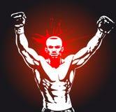плакат бокса Стоковое Изображение RF