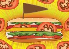 плакат быстро-приготовленное питания eps Стоковые Изображения