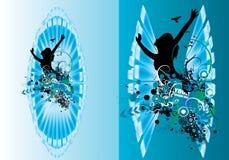 Плакат вектора абстрактный Стоковая Фотография