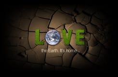 плакат влюбленности земли Стоковые Изображения RF
