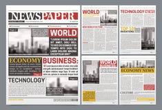 Плакат дизайна шаблона газеты реалистический бесплатная иллюстрация