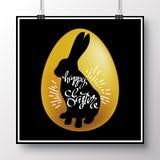 Плакат для счастливого easter_4 Стоковое Изображение