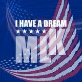 Плакат дня Мартин Лютер Кинга сновидение имеет I иллюстрация штока