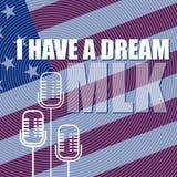 Плакат дня Мартин Лютер Кинга сновидение имеет I иллюстрация вектора