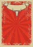 плакат западный Стоковые Изображения