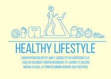 Плакат здорового образа жизни плоский бесплатная иллюстрация