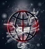 Плакат земли планеты стоковая фотография rf
