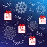 Плакат, знамя или летчик продажи зимы иллюстрация вектора