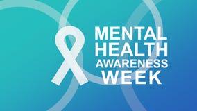 Плакат и знамя осведомленности психических здоровий, выделяя осведомленность психических здоровий иллюстрация штока