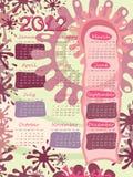 плакат календара начинает неделя воскресенья Стоковое Изображение RF