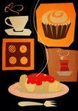 плакат кафа Стоковое Изображение