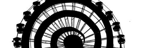Плакат колеса Ferris стоковая фотография rf