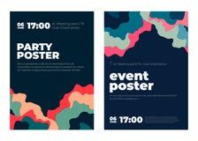 Плакат концепции искусства события бумажный Стоковое Фото