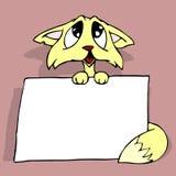 плакат кота Стоковые Фото