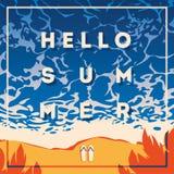 Плакат летнего отпуска и летнего лагеря Стоковое Фото