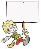 плакат мальчика Стоковая Фотография