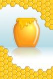 плакат меда Стоковые Изображения