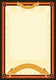 плакат меню королевский Стоковое Изображение