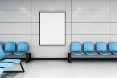 Плакат модель-макета в ждать зале иллюстрация штока