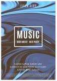 Плакат музыки абстрактный Стоковые Фотографии RF